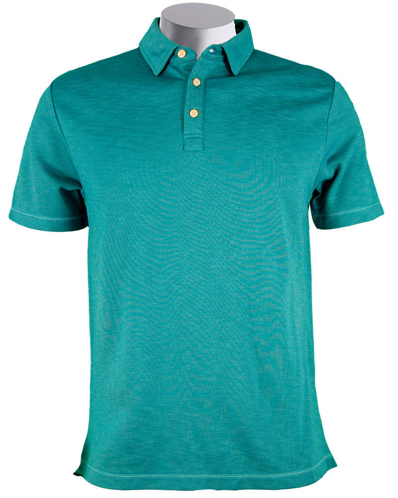 Polo Shirt Surfside Supply Lux Pique Collared Top M- ruby & sofia
