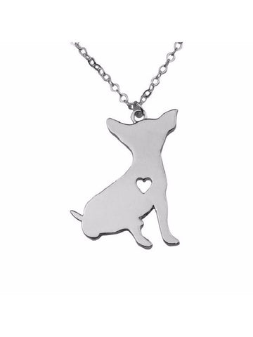 A Chihuahua Has My Heart Silver/Gld Plated Necklace - Proceeds go to Animal rescue