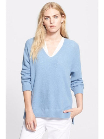 Vince V Cashmere Layout Sweater XS