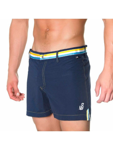 Andrew Christian Blue Nautical Swim Trunks Shorts 32