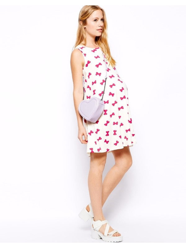 ASOS Pink Bow Maternity Dress 4 NWOT