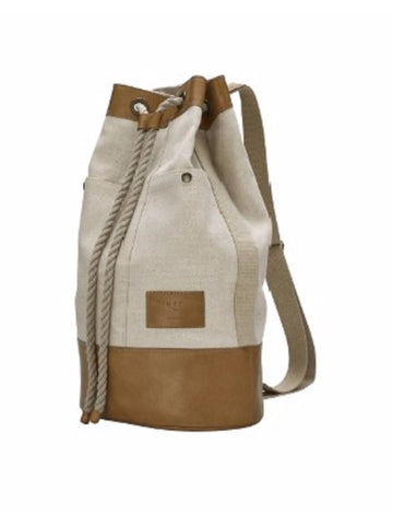 USE BAG Budapest 'Dust' Leather & Canvas Sailor Backpack Shoulder Bag