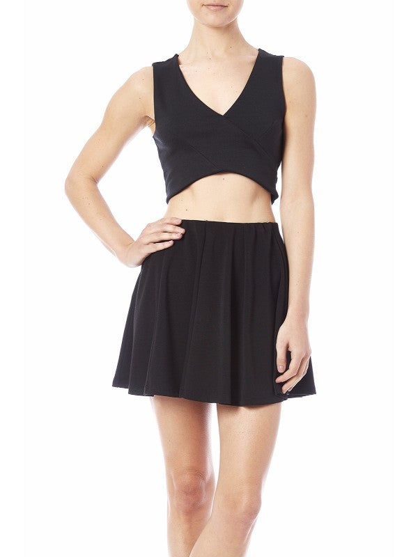 Heart & Hips Black Crop Top