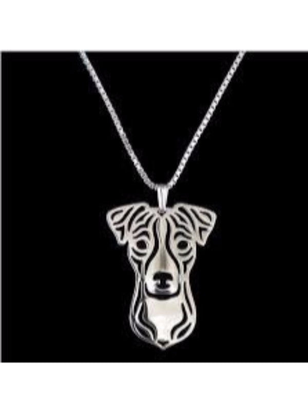 Jack Russell Silver Plate Necklace - Proceeds Go to Animal Rescue