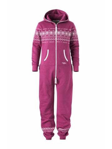 OnePiece Norwegian Norway Traditional Lusekofte Onsie Wine Purple M NWT