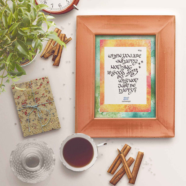 Happy Quotes for Life Poster & Card