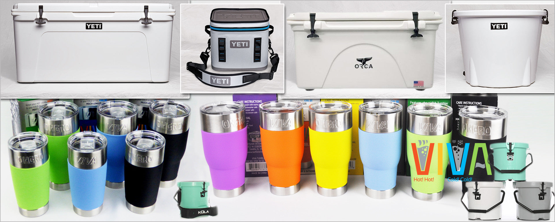 VIVA Coolers and Tumblers from Lee Fisher