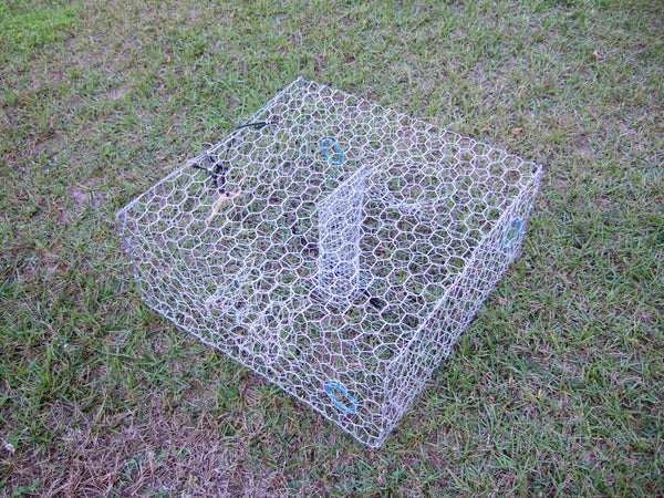 Blue Crab Trap Galvanized Or Vinyl Coated Wire Trap
