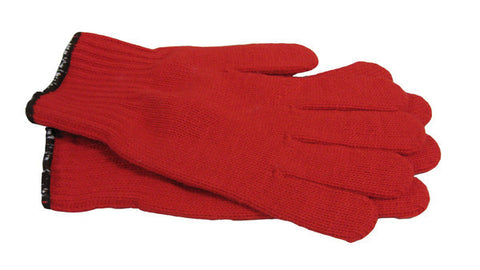 Red Nylon Work Gloves