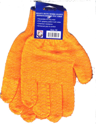 Orange Vinyl Coated Gloves