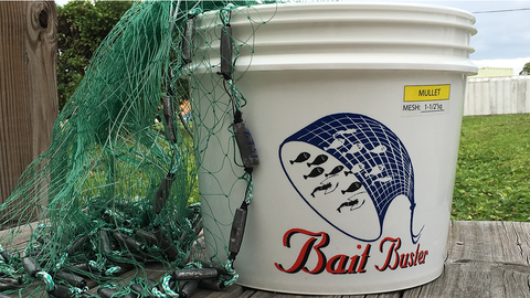 "Bait Buster Mullet Cast Nets 1-1/4"" Sq. Mesh"