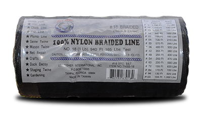 Lee Fisher Size 18 1 LB Braided Twine Black 950 FT 115 Test for sale online