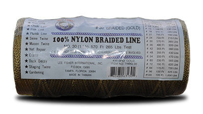 Nylon Braided Twine – Gold