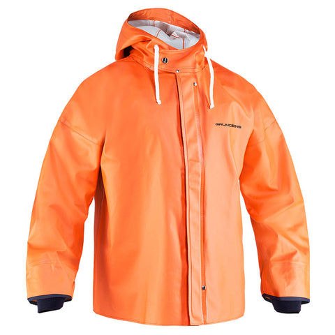 Pullover Hooded Jacket by Grunden - Orange