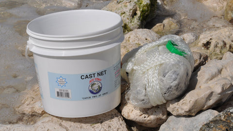 "Joy Fish Professional Bait Cast Net with 1/2"" Sq. Mesh"