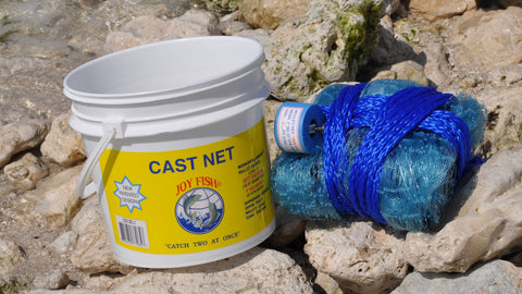 "Joy Fish Mullet Cast Nets with 1"" Sq. Mesh"