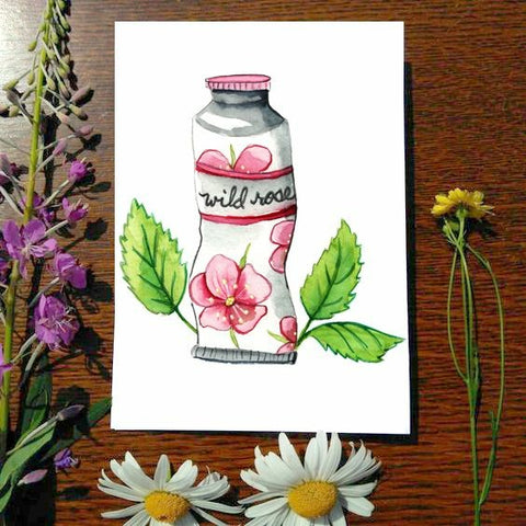 Greeting Card - Wild Rose Paint