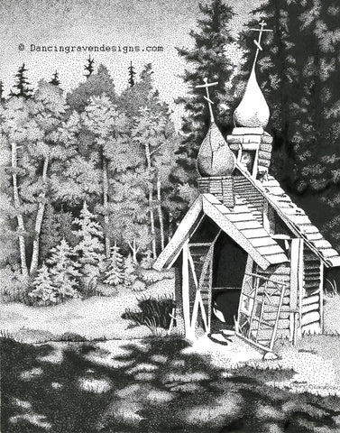 Russian Orthodox Church, Eklutna Alaska - Art Original