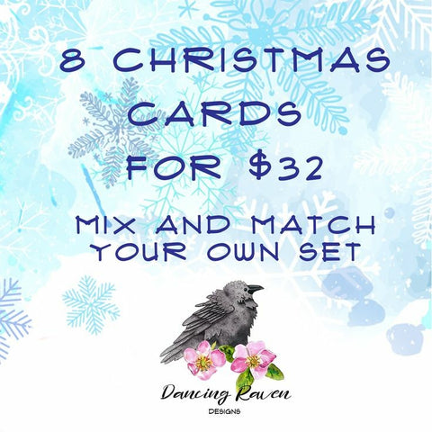 Christmas Greeting Card Set - Mix and Match