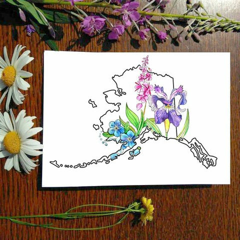 Greeting Card - Alaska Wildflowers