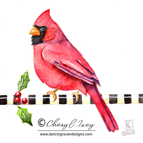 Tiny Original - 30 Birds - Cardinal