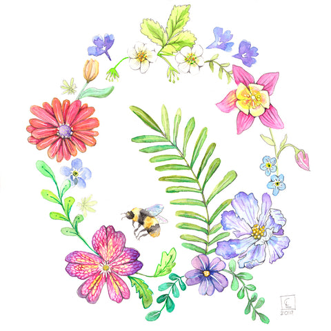 Spring Wreath - Art Original