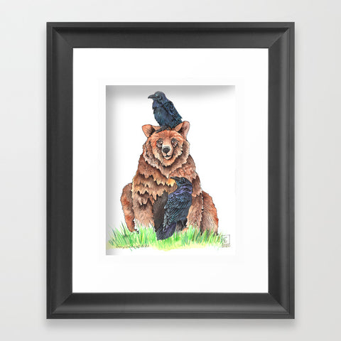 "Bear  Art - ""Afternoon with Friends - Art Print"