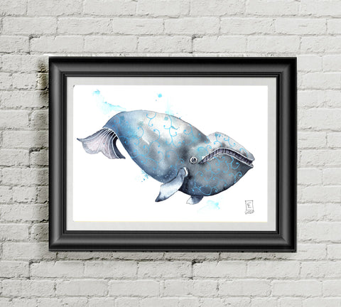 Right Whale - Art Print