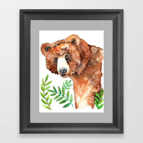 Bear in the Bushes - Art Original