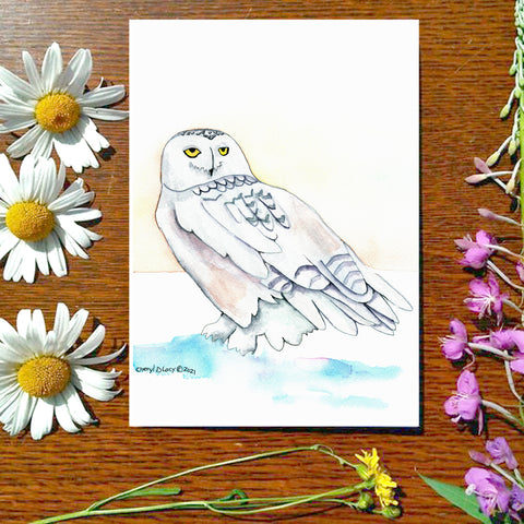 Snowy Owl - Greeting Card
