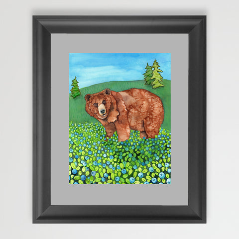 Blueberry Bear - Art Original