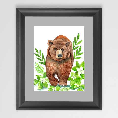 Dogwood Bear - Art Print