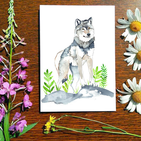 Wolf - Greeting Card