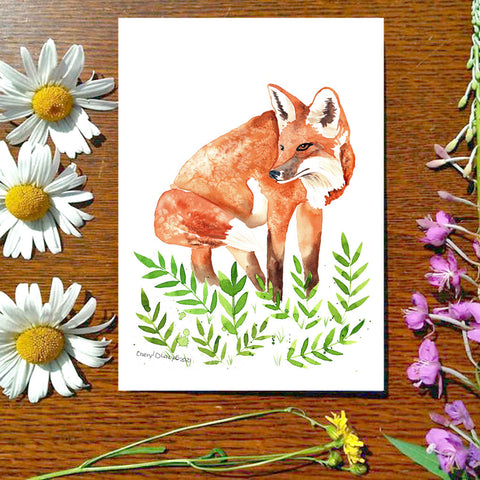FoxE - Greeting Card