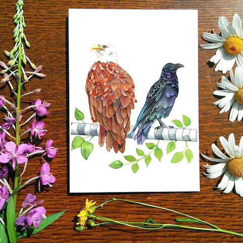 Lovebirds - Greeting Card