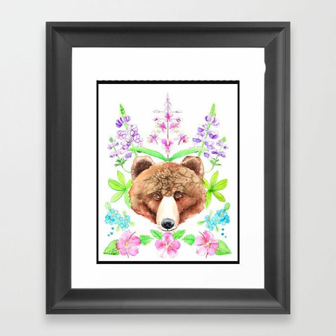 Wildflower Bear  - Art Print