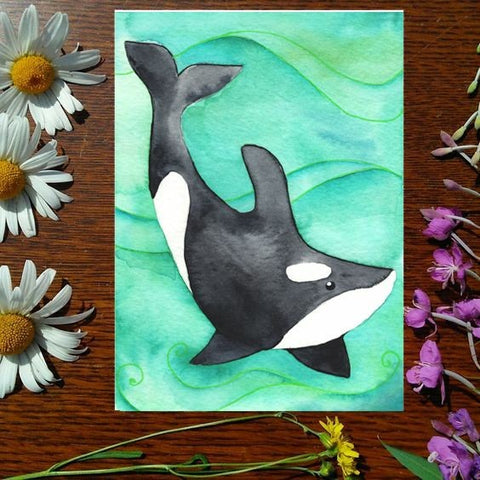 Greeting Card - Orca