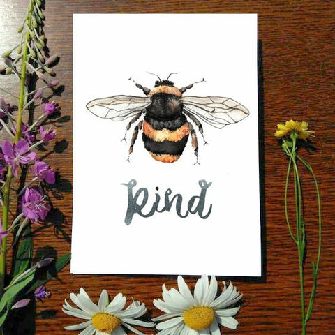 Greeting Card - Bee Kind