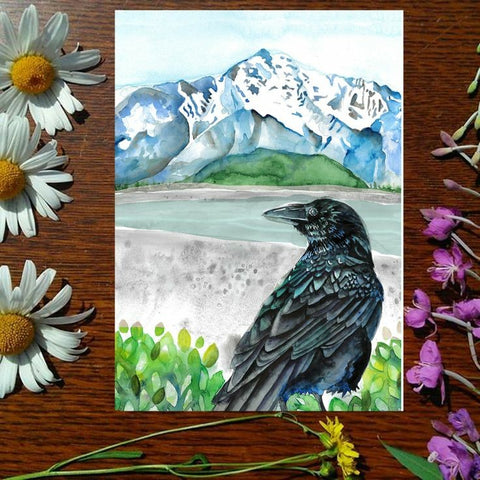 Greeting Card - Matanuska Raven