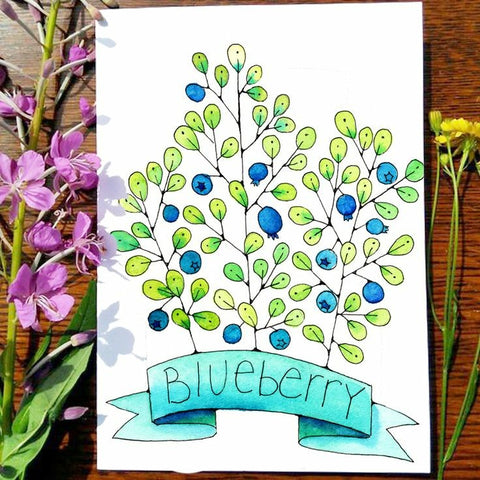 Greeting Card - Blueberry
