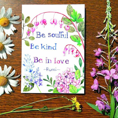 Greeting Card - Be Soulful