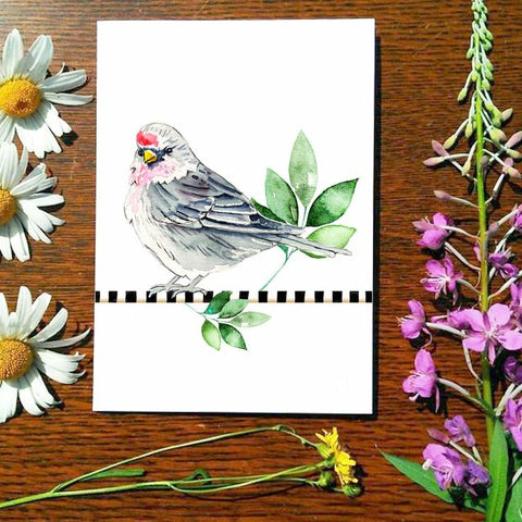 Greeting Card - Red Poll