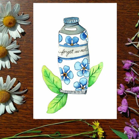 Greeting Card - Forget Me Not Paint