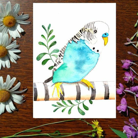 Greeting Card - Don't be a Budgie