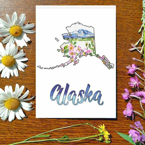 Greeting Card - Alaska