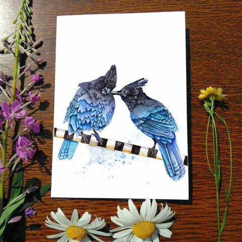 Greeting Card -Stellar Jays