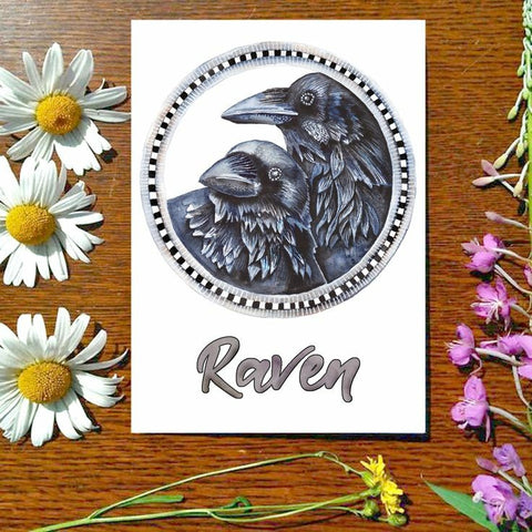 Greeting Card - Raven Circle