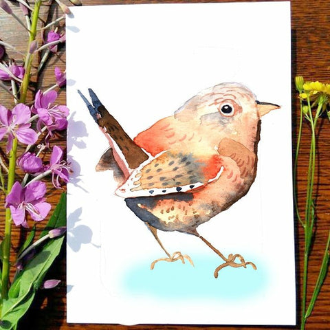 Greeting Card - Wren