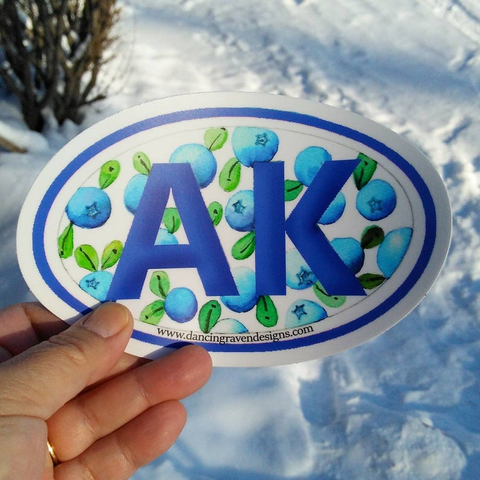 Sticker - AK Blueberry (large)