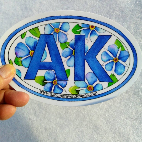Sticker - AK Forget Me Not (large)